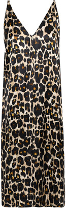 Robert Rodriguez Leopard-print Sateen Slip Dress