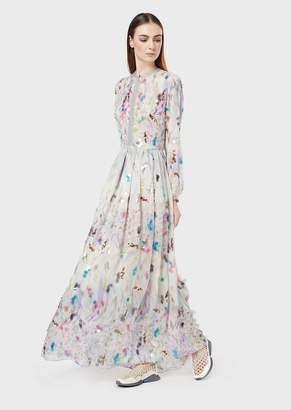 Giorgio Armani Embroidered Silk Dress
