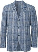 Lardini striped single-breasted blazer - men - Cotton/Linen/Flax/Nylon/Viscose - 44