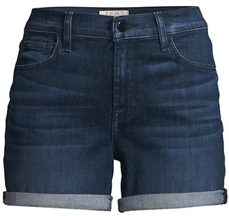 JEN7 by 7 For All Mankind Roll-Up Denim Shorts