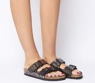 Birkenstock Arizona Two Strap Sandals Metallic Stones Black