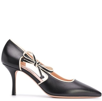 Bally Side Bow Pointed Pumps