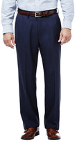 Haggar Expandomatic Stretch Heather Dress Pant - Classic Fit, Flat Front, Expandomatic Waistband