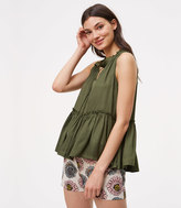 LOFT Shirred Peplum Shell