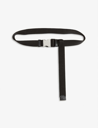 Prada Engraved buckle nylon belt