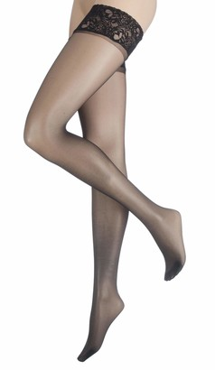 Charnos Ladies 1 Pair 10 Denier Run Resist Hold Ups In 4 Colours - Small - Black