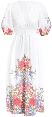 Zimmermann Poppy Shirred Waist Dress