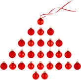 Holiday Lane Set of 27 Glass Red Ball Ornaments, Created for Macy's