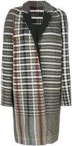 Haider Ackermann non-uniform tartan effect coat