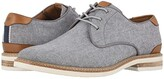 Florsheim Highland Canvas Plain Toe Oxford (Gray Canvas/White Sole) Men's Shoes