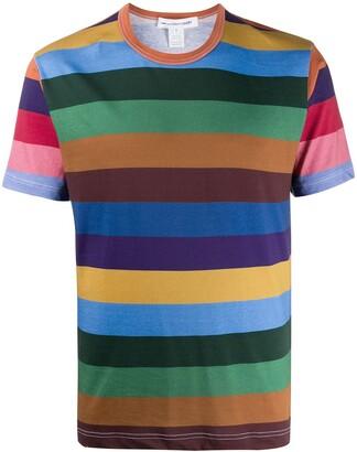Comme des Garçons Shirt striped cotton T-shirt