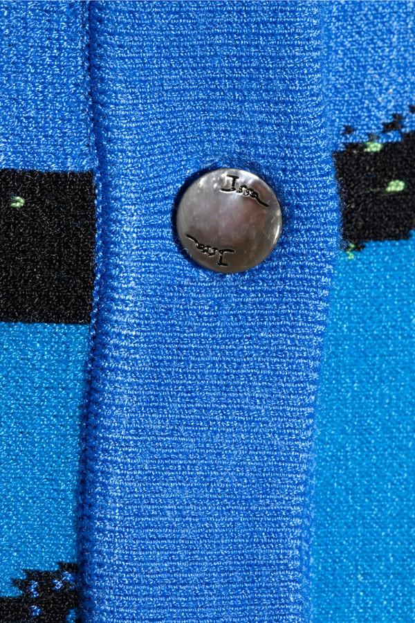 Issa Striped fine-knit cardigan