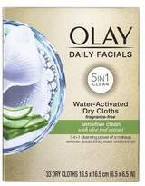Olay Daily Gentle Clean 4-in-1 Water Activated Cleansing Cloths, 33 count