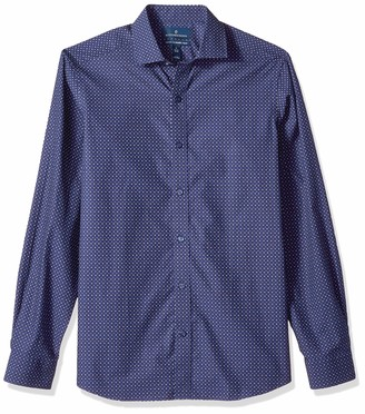 Buttoned Down Men's Tailored Fit Spread-Collar Dress Casual Shirt