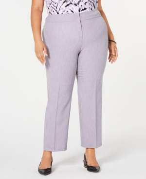 Kasper Plus Size Stretch Crepe Pants