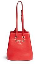 Charlotte Olympia 'Feline' catface calfskin leather bucket bag