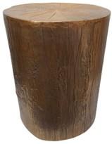 Threshold Tree Stump Accent Table Copper