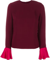 Roksanda top with frill sleeves