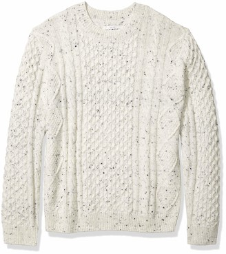 Lucky Brand Men's Crew Neck NEP Cable Pullover Sweater