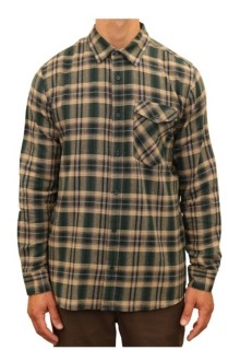 Mountain and Isles Men's Plaid Flannel one Pocket Button Down Shirt