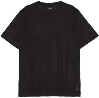 Fendi Embroidered Logo Crewneck T-Shirt