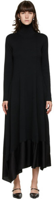Jil Sander Black Asymmetric Hem Dress