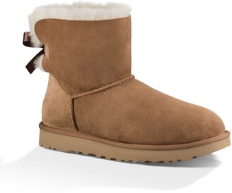 UGG Mini Bailey Bow II Genuine Shearling Bootie