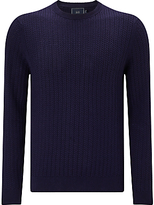 John Lewis Textured Cotton Crew Neck Jumper