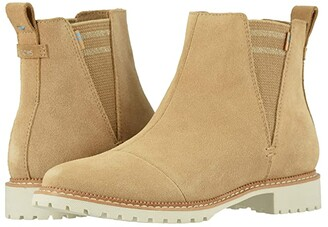 Toms Cleo (Water Resistant Desert Tan Suede) Women's Shoes