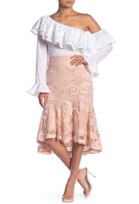 Endless Rose Mermaid Lace Fit & Flare Skirt
