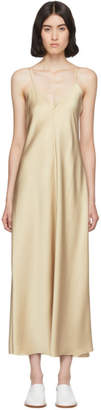 The Row Tan Silk Guinevere Dress