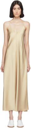 The Row Tan Silk Guinevere Dress