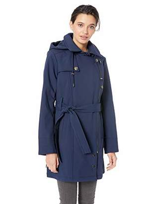 Steve Madden Women's Asymmetrical Zip Softshell Jacket