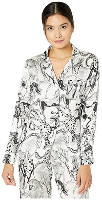 Stella McCartney Margo Racing Shirt (White/Black) Women's Pajama