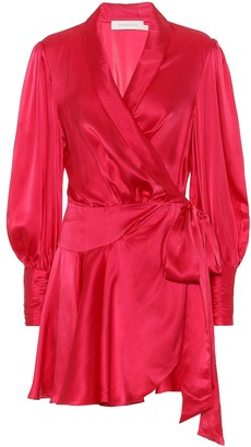Zimmermann Wavelength silk-satin dress