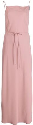 Calvin Klein Rear Logo Tie Front Camisole Dress