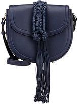 Altuzarra Women's Ghianda Knot Small Saddle Bag-NAVY