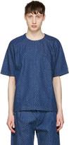 Sunnei Blue Denim Lasered T-shirt