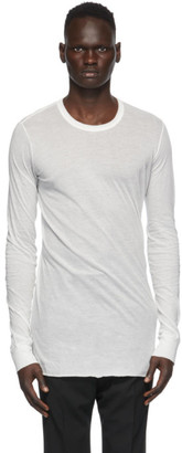 Rick Owens White Basic Long Sleeve T-Shirt