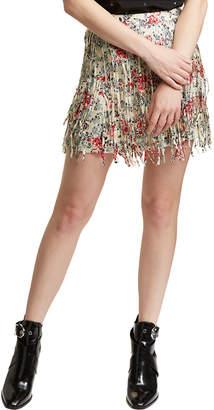 Zadig & Voltaire Jaliz Print Deluxe Silk Mini Skirt
