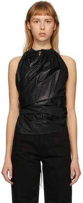 Lemaire Black Pleated Sleeveless Tank Top