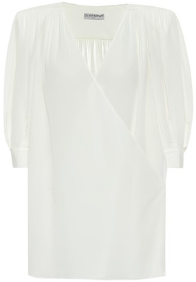Givenchy Silk-crepe de chine top