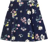Cath Kidston Scattered Pressed Flowers Crepe Flippy Skirt