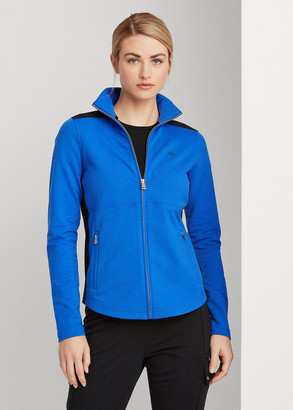 Ralph Lauren Cotton-Blend Mockneck Jacket