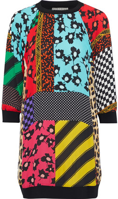 Alice + Olivia Jetti Patchwork Printed Woven Mini Dress