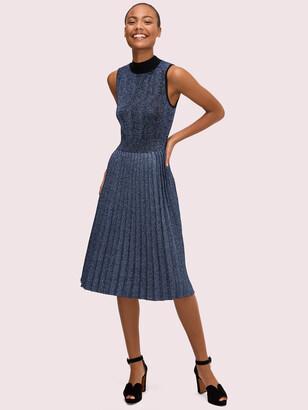 Kate Spade Metallic Pleated Sweater Dress