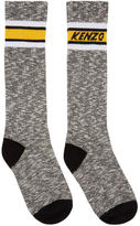 Kenzo Black and White Logo Stripe Socks