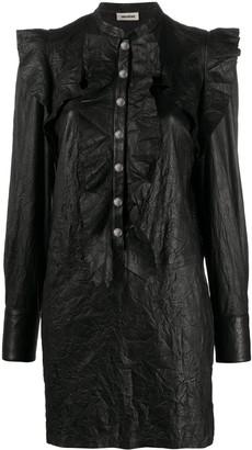 Zadig & Voltaire Ruskies crinkle-effect shirt dress