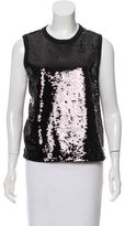 Giambattista Valli Sequined Sleeveless Top