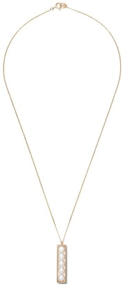 Lia Di Gregorio 18kt yellow gold Box Parallelepipedo Akoya pearl pendant necklace